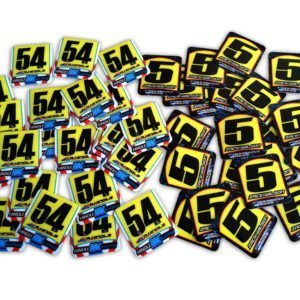 Mini Race Plate Decals