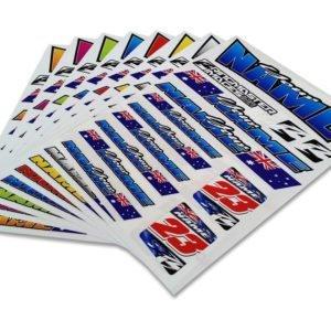 Custom I.D. Sticker Sheets