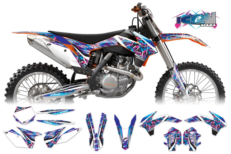 KTM Icon Series MX Graphics Kit - Ringmaster ...