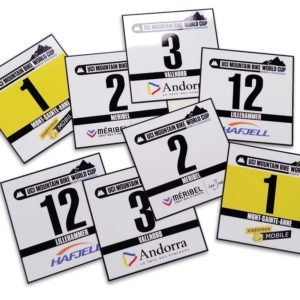 MTB Number Plates & Stickers