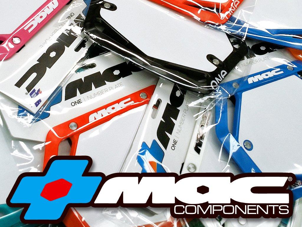Mac One BMX Number Plate Pro Black